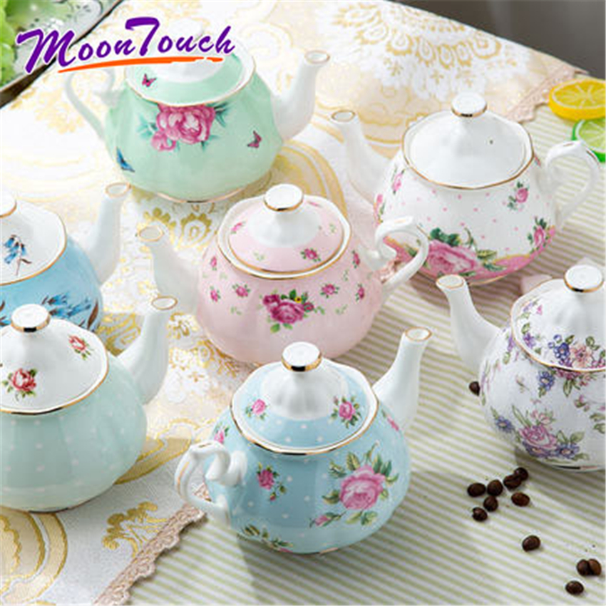 Ceramic Household Teapot European Coffee Pot Kung Fu Ceramic Office Personal Teapot With Flower Pattern Portable Afternoon Tea