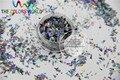 Luz Negro Color de la Hoja de Mylar Holográfico TCA1002 Azar Tamaño Copos de Corte para la decoración de uñas y otros decoración del arte DIY