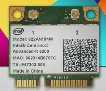 SSEA New Network Card for Intel Advanced-N 6200 622ANHMW 6200AGN half Mini PCI-E 300Mbps dual band 2.4G/5GHZ WIFI Wireless card