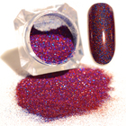 Purple Starry Holographic Laser Glitter Powder Manicure Nail Glitters Powder Pigments for Nail Art Decoration