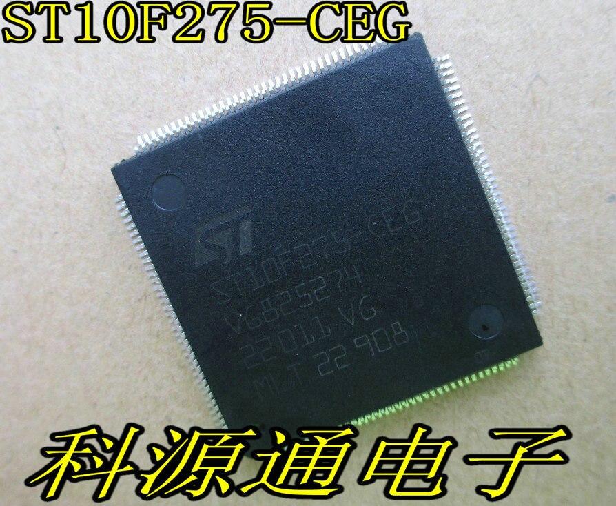 10PCS LOT ST10F275 CEG ST10F275 TQFP144 20X20X1 4MM Computer power supply module CPU chip Thin package