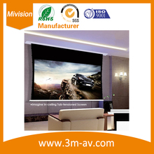 153″ 1:1 High qualified Recessed Inceiling screen Evanesce Tab-Tension B Series, In-Ceiling Electric Projection Projector Screen