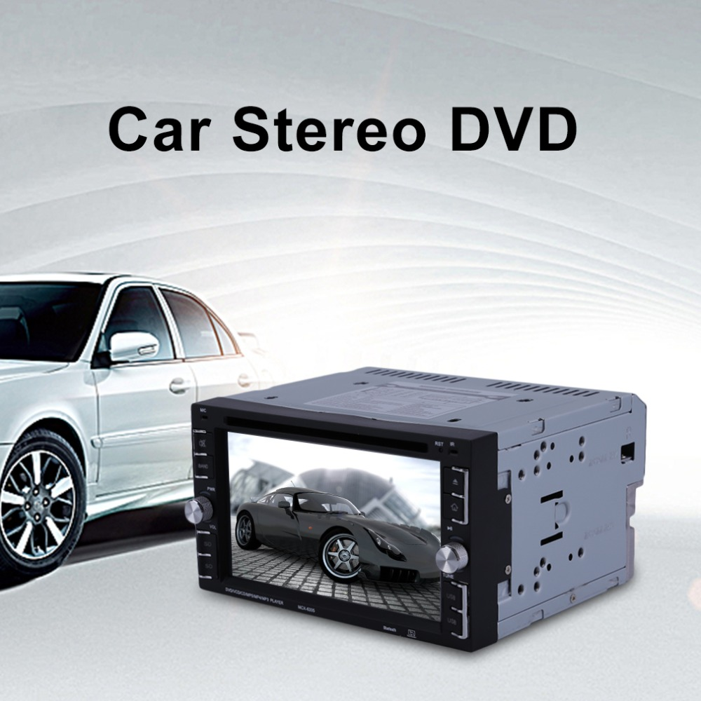 Double Din 6.2 Inch Car Stereo DVD CD MP3 Music Player HD In Dash Bluetooth TV Radio 6205 UK Plug Car Accessories Remote Control f6063b 7 inch hd touch screen 2din car in dash fm radio receiver bluetooth dvd cd player with wireless remote control