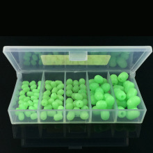 100st Oval Soft Luminous Fishing Perler Glød i Dark Rig Fishing Perler Lures Float