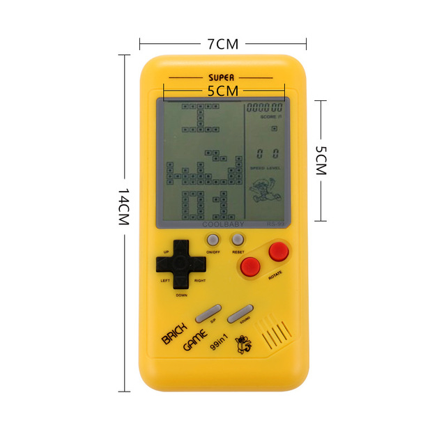 """Retro Tetris Handheld Game Player 3.5"""" LCD Electronic Game Toys Pocket Game Console Riddle Educational Toy Classic Players"""