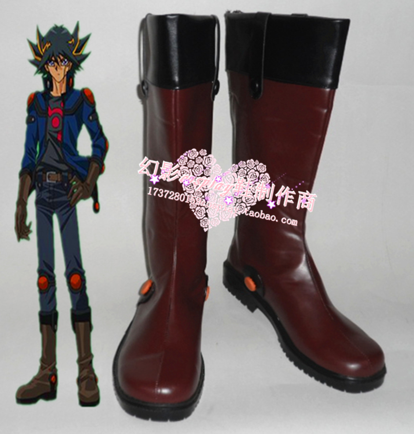 Yusei Fudo Cosplay Shoes Boots Halloween Party Cosplay Costume Accessories Yu-gi-oh Costumes & Accessories