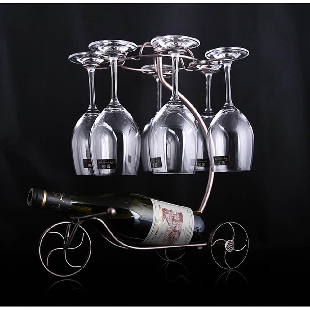 Decorative Racks Wine Bottle Holder Hanging Upside Down Cup Goblets Display Rack Iron Wine Stand Arts Design KC1283 (1)