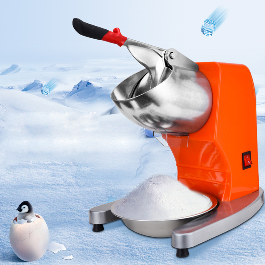 Electric ice crusher machine commercial household ice chopper crushed Ice crushing Block shaving ice crushing machine ice crusher snow ice shaving machine easy operation high quality home use summer ice food making machine ice crushing machine zf