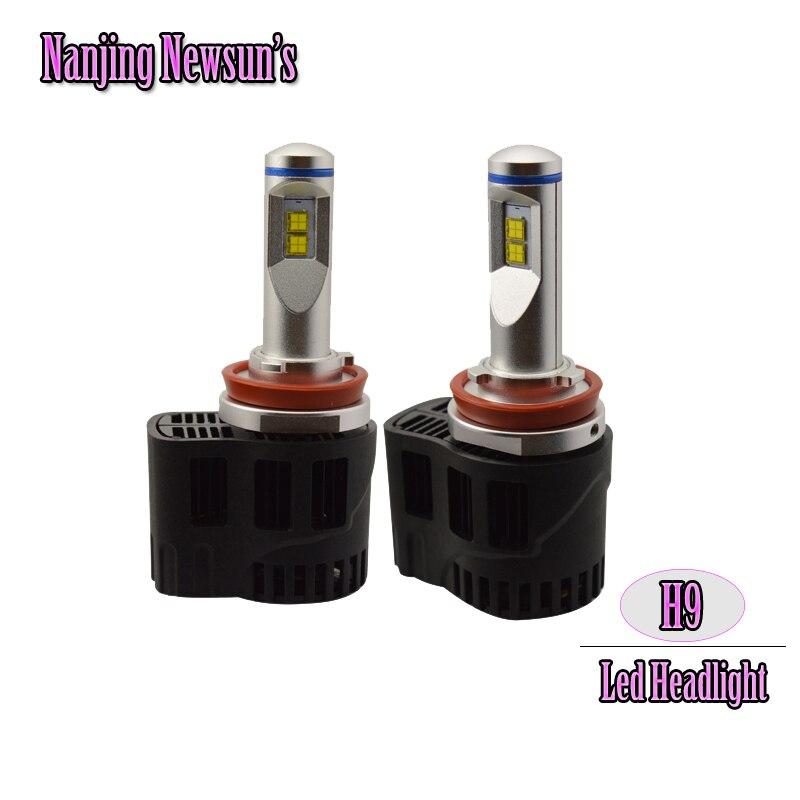 Hot Car Styling 55W 5200Lm H9 Led Headlight Conversion Kit Replace Halogen Xenon Bulb 6000K White Led Headlamp Kit