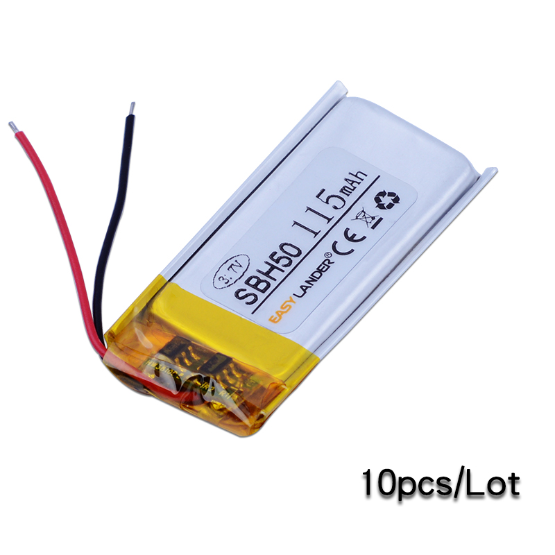 Easylander replacement 10pcs/Lot 3.7V 115mAh Li-Polymer Li-ion Battery For SONY SBH50 bluetooth headset mallper bst 38 replacement 3 7v 720mah li ion battery for sony ericsson c905 k770i k850i k858