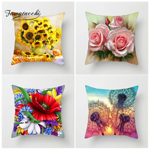 Fuwatacchi Pillow Cover throw pillow covers Paintings Cushion Home Decor Couples Gifts Throw Randomly Sending