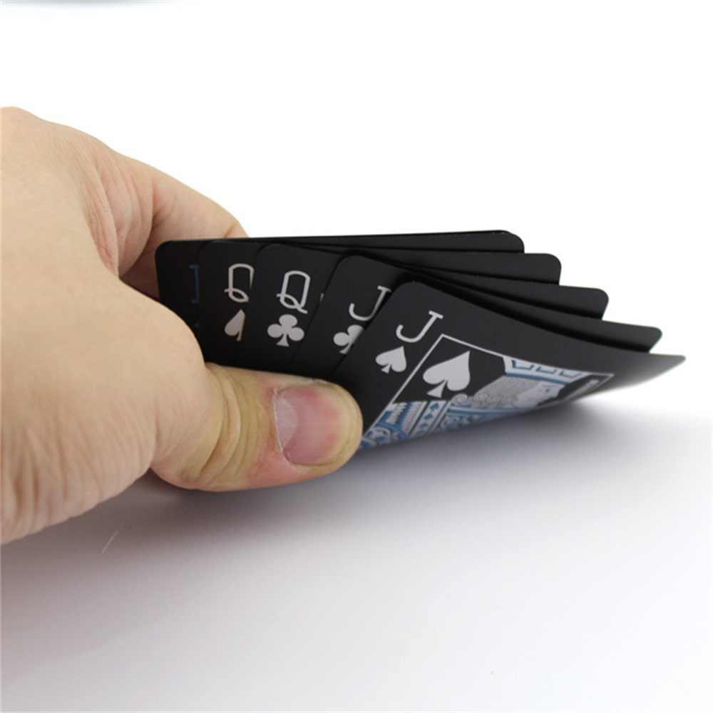 SPORTSHUB Matting Top пластиковые игральные карты водонепроницаемые черные пластиковые игральные карты креативный подарок покерные карты NR0127