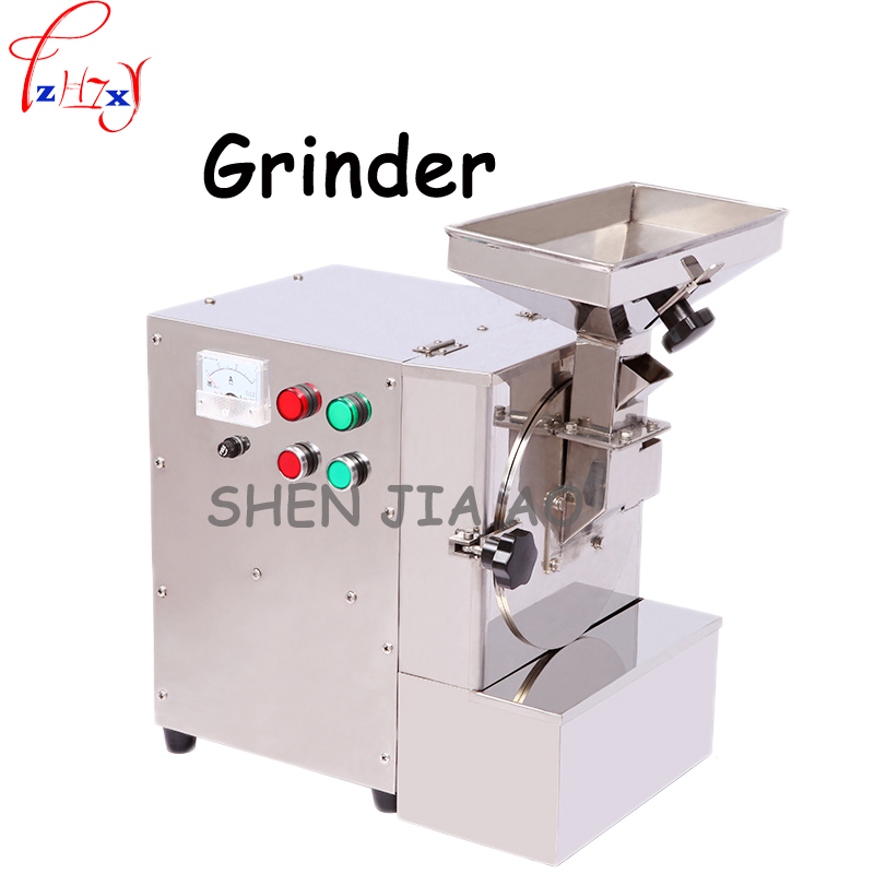 220V Commercial grinding machine stainless steel grease oily grinder peanut sesame almond walnut pumpkin seeding machine