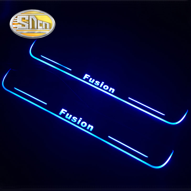 SNCN Waterproof Acrylic Moving LED Welcome Pedal Car Scuff Plate Pedal Door Sill Pathway Light For Ford Fusion 2013 - 2016 free ship rear door of high quality acrylic moving led welcome scuff plate pedal door sill for 2013 2014 2015 audi a4 b9 s4 rs4 page 5