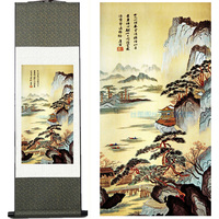 Silk Ink Calligraphy And Painting H Landscape Painting Silk Painting Decorative Painting Scroll Painting Traditional Chinese