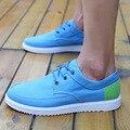 Nuevo 2016 Top Fashion flats Zapatos de Los Hombres Zapatos Planos de la Lona de Los Hombres Ocasionales Diarios Zapatos de Verano Con Cordones Respirable Zapatos de los hombres