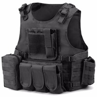 Barbarians Tactical MOLLE Military Airsoft Paintball Vest Modular Adjustable Vest Multiple Pouches Plate Carrier