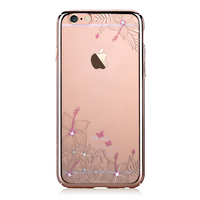 DEVIA For IPhone 6 6s Case Cover Crystals From Swarovski Diamond Flower Floral Plated Hard Back