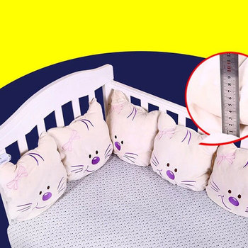цена Newborn Bumper 6Pcs/Lot Baby Bed Bumper In The Crib Cot Bumper Baby Bed Protector Crib Bumper Newborns Toddler Bed Bedding Set онлайн в 2017 году