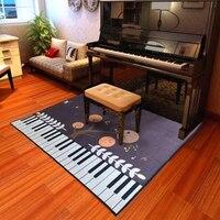 Piano Notes Carpets For Living Room Home Area Rugs For Bedroom Shelf Drum Floor Mat Cartoon Carpet Kids Room Anti Slip