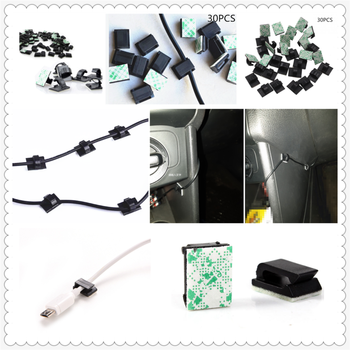 30Pcs auto parts clip storage bag cable holder paste for BMW E46 E39 E38 E90 E60 E36 F30 F30 E34 F10 F20 E92 E38 E91 image
