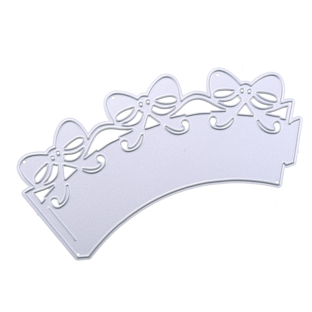 New Bowknot Cupcake Wrapper Metal Cutting Dies Stencils for DIY Scrapbooking Photo Album Embossing Paper Cards Decorative Crafts