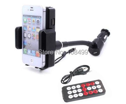 Controle remoto Handsfree LCD Rádio FM Transmitter TF USB Jogador Carregador de Carro telefone montar titular para o iphone 6 s 6 mais 5 se 5S 5c