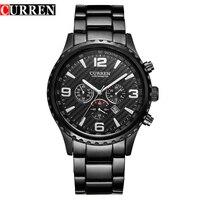 CURREN Fashionable Business Casual Classic Calendar Men Watch Waterproof Male Quartz Watches Steel Band Watches Man