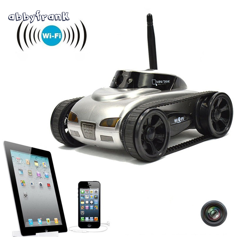 RC Mini Tank Car IOS Android Phone Remote Control 777-270 Wifi Spy Tanks Shoot Robot With 0.3MP Camera Toys For Children Adult wifi mini rc camera tank car ispy with video 0 3mp camera 777 270 remote control robot with 4ch suppots by iphone android app