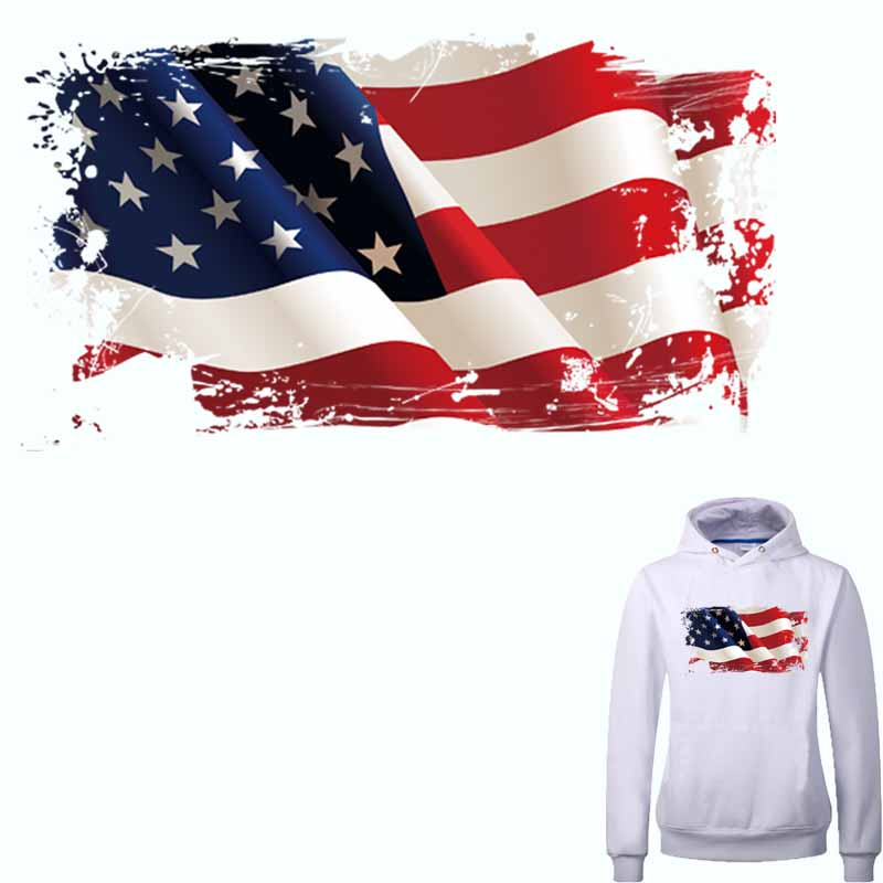 My American Express >> Two Size In Stock American Flag Patches A level Washable ...