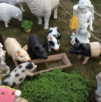 Good Black Spotted White Pigs Garden Products Home Decorations Gardening  Ornaments Yard Decoration Pig Lucky Pig In Garden Buildings From Home U0026  Garden On ...