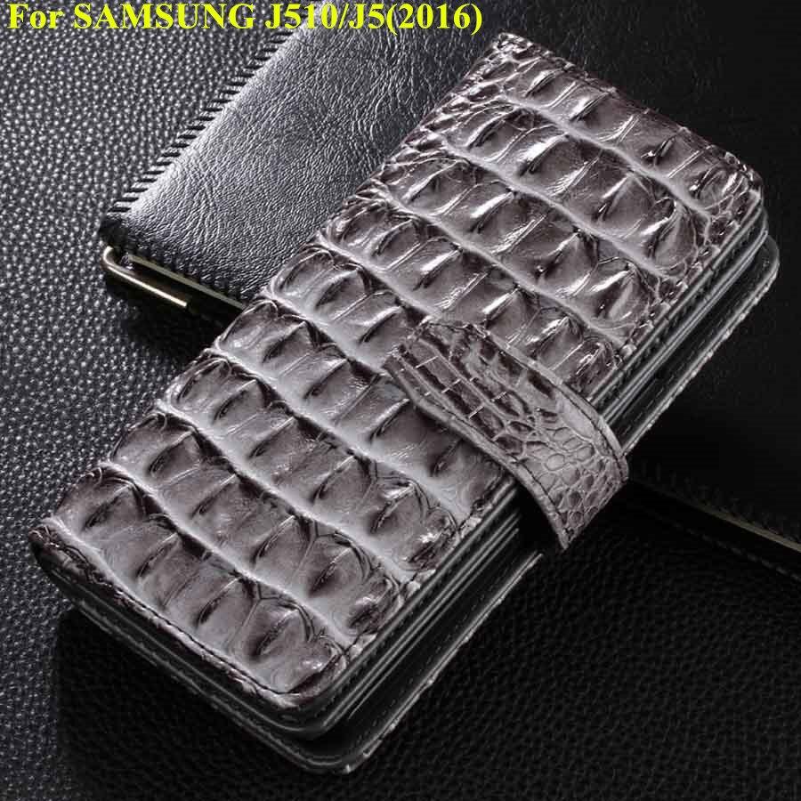 imágenes para PU funda de piel Para Samsung Galaxy Caja Del Teléfono La Cubierta Del Tirón Para Samsung J510 J5 2016 J510 Cubierta Estilo de la Carpeta de Negocios