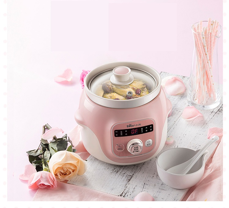 Multifunctional Automatic 220V Household Electric Stewing Pot Stewing Baby Porridge Soup With Ceramic Inner EU/AU/UK 220v household electric slow stewing pot machine baby porridge food maker automatic ceramic inner stewing cooker eu au uk