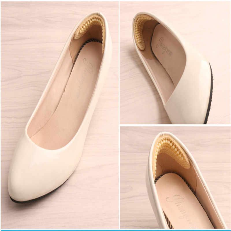 Sapato de silicone macio palmilhas calcanhar adesivos espessados anti-deslizamento resistente ao desgaste pé calcanhar posts meia jarda almofada apto massagem pé
