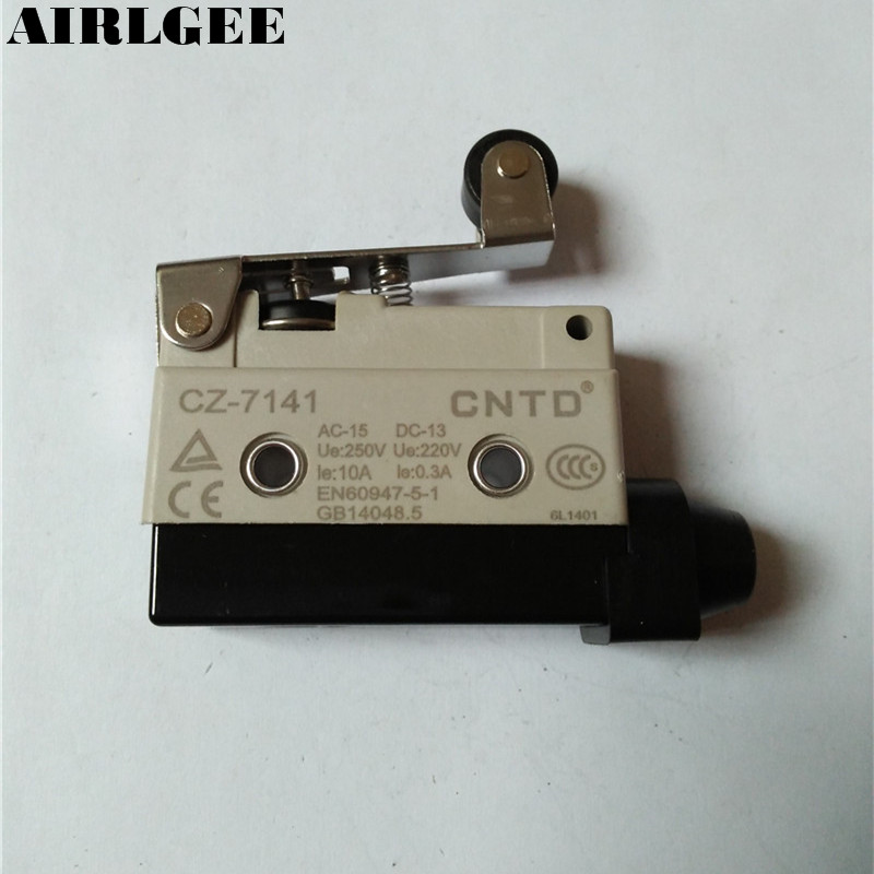 Ue 250V Ith 10A SPDT 1NO 1NC Momentary Limit Switch CZ-7141 for CNC Router Mill Lathe limit switches plug in side plunger std 1nc 1no spdt
