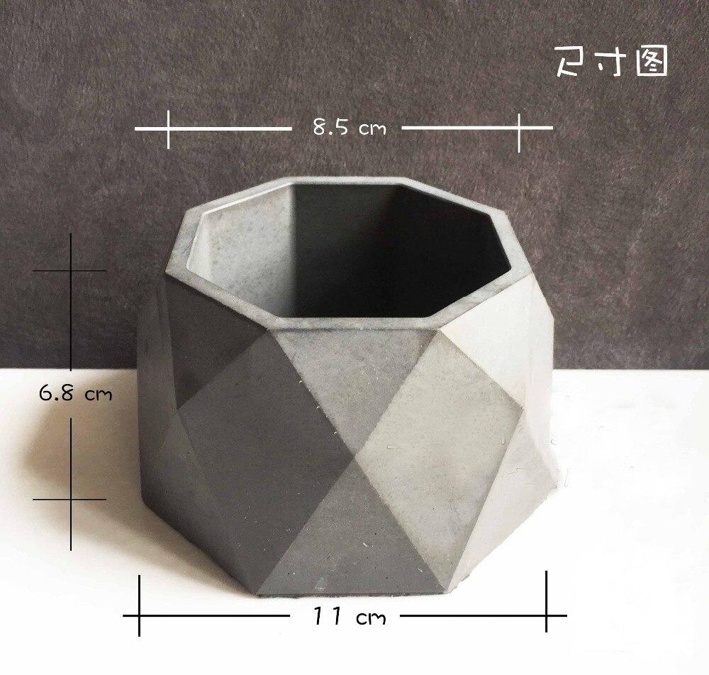 Silicone flower pots mold 3d moulds handmade Cement molds silica gel mold concrete moulds vase molds