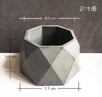 PRZY Silicone Flower Pot Vase Polyhedron Exquisite Handmade Soap Cake Decoration Candle Mold