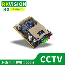 цена на 1CH HD recorder board SD card storage module Support CVBS recording CCTV PCB board DVR monitor recorder board