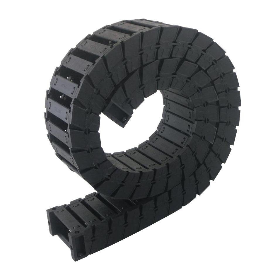 цена на Transmission Chains 25 x 57mm Internal Size L1000mm Length Mute Plastic Reinforced Nylon Towline Cable Drag Chain