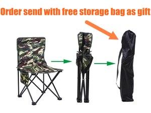 Image 2 - Silla para pesca al aire libre plegable ultraligera de Camping senderismo, de camuflaje, portátil, de ocio, Picnic, playa, silla plegable, asiento, taburete