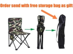 Image 2 - Ultra Hafif Kamp Yürüyüş katlanır balıkçı sandalyesi Açık Kamuflaj Taşınabilir Eğlence Piknik Plaj Katlanabilir Sandalye Koltuk Tabure