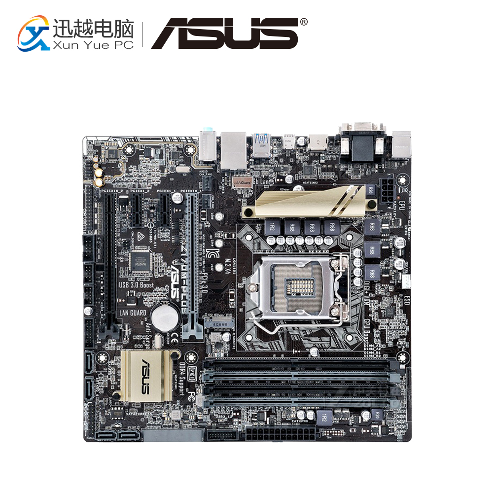 Asus Z170M-PLUS Desktop Motherboard Z170 Socket LGA 1151 i7 i5 i3 DDR4 64G SATA3 Micro-ATX for msi z170a krait gaming 3x original new desktop motherboard for intel z170 socket lga 1151 for i3 i5 i7 ddr4 64g sata3 atx