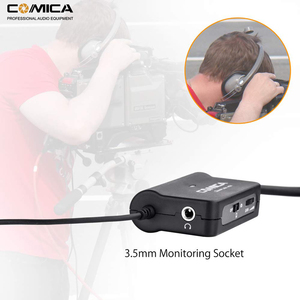Image 3 - Comica AD1 Microphone Preamp XLR to 3.5mm Audio Adapter XLR to TRS/TRRS Adapter for DSLR Cameras Camcorders and Smartphones