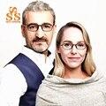 PIEDRA DEL SOL de la Marca de Lujo Anti-radiación Anti-fatiga Gafas de Lectura Mujer Hombre Azul Claro A Prueba de Gafas de Presbicia 0.5 + 0.75 R123