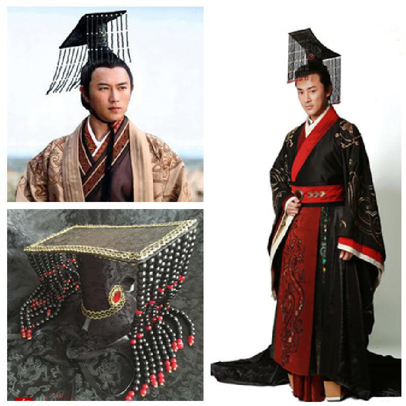 New Adult Men's Hat Ancient The Qin Empire Crown Chinese Emperor's Headpiece Photography Cosplay Hat