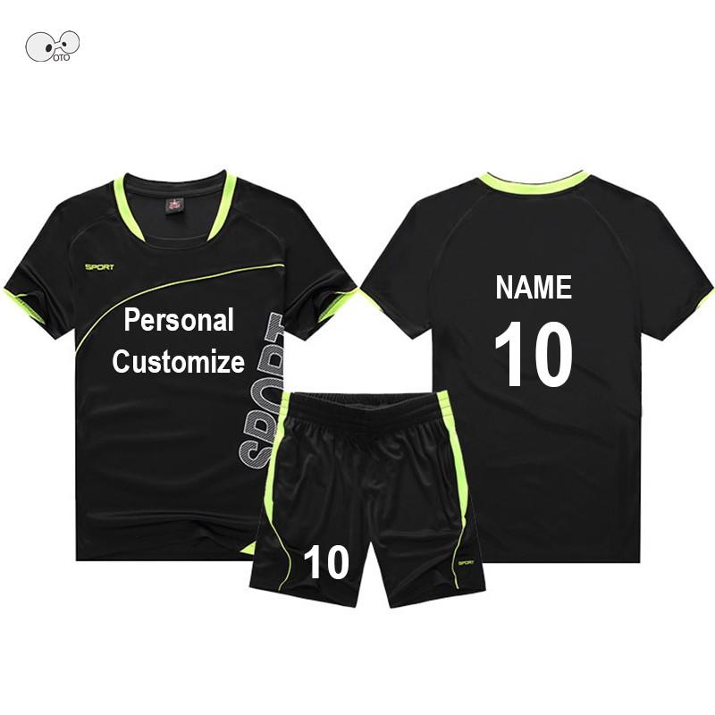 High Quality Soccer Jerseys Suit 2018/2019 Men Custom Team Football Uniforms Sets College Futsal Kits Boys Kids Football Jerseys