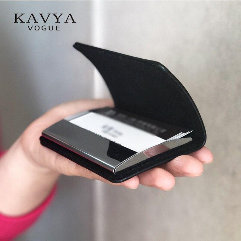 Fechadura magnética couro genuíno bussiness namecard caso id cartão de banco titular do cartão caixa organizador carteira