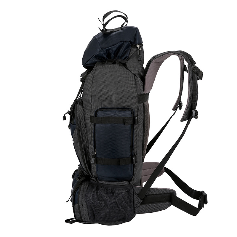90L Outdoor Mountaineering Bag Men Women Hiking Camping Bags Waterproof Sport Bag Travel Backpacks Large capacity Rucksack 32 in Climbing Bags from Sports Entertainment
