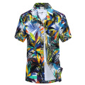 Summer Dress Hawaiian Shirt Men's Hawaii Beach Shirt Short Sleeve Floral Loose Casual Mens Shirts Fashion 2016 Plus Size L-4XL