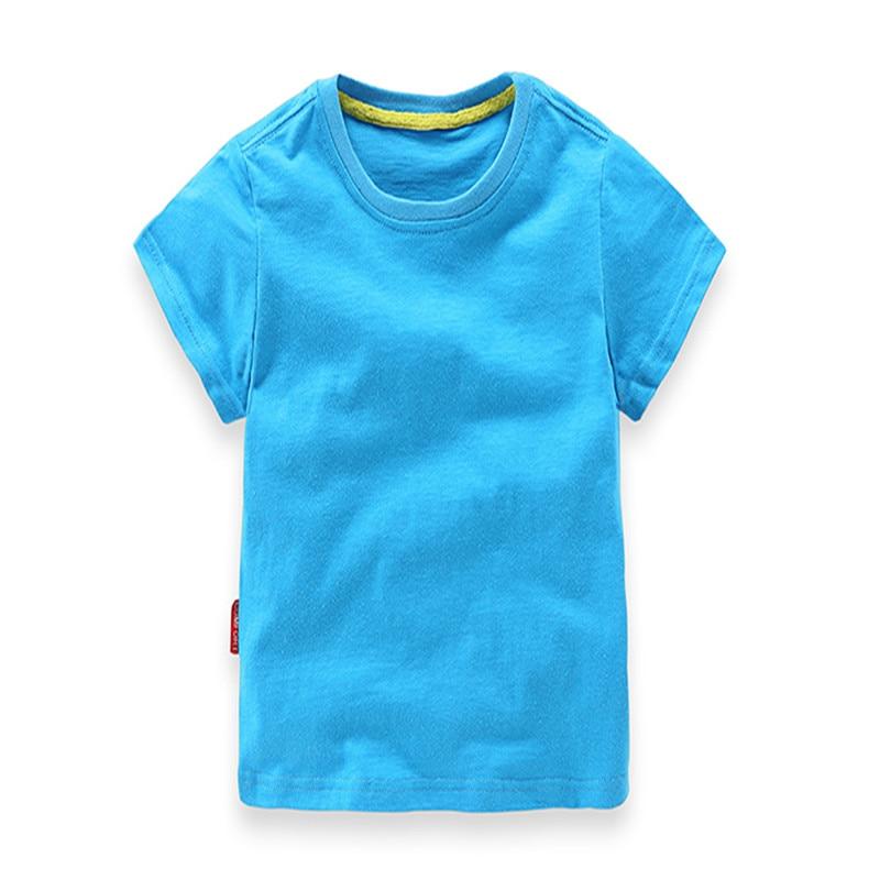 2018 Ең жаңа жігіттер Қыздар T Shirt Қатты - Балалар киімі - фото 2